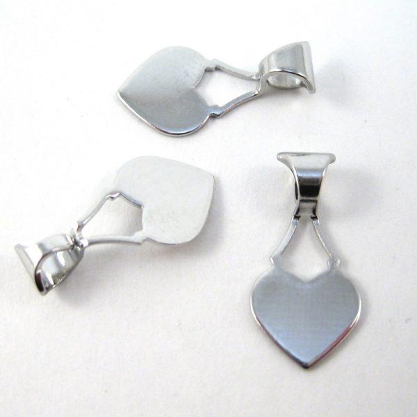 Hjärtformat bakstycke för limning, 30mm