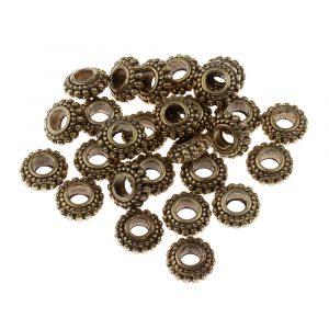 8x3,5mm Tefatsformade Antik Brons Mässingspärlor