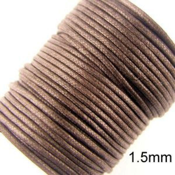 1,5mm Brunt Vaxat Bomullssnöre (23m)
