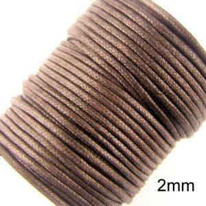2mm Brunt Vaxat Bomullssnöre (23m)