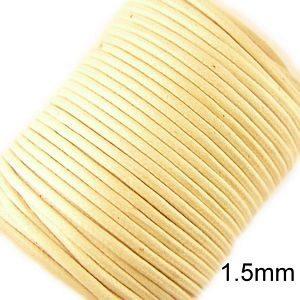 1,5mm Beige Vaxat Bomullssnöre (23m)